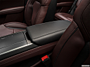 2018 Lincoln MKZ Black Label, front center console with closed lid, from driver's side looking down