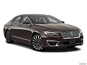 2018 Lincoln MKZ Black Label, front passenger 3/4 w/ wheels turned.