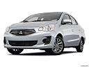 2018 Mitsubishi Mirage G4 ES, front angle view, low wide perspective.