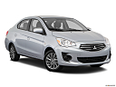 2018 Mitsubishi Mirage G4 ES, front passenger 3/4 w/ wheels turned.