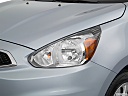 2018 Mitsubishi Mirage SE, drivers side headlight.