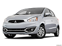 2018 Mitsubishi Mirage SE, front angle view, low wide perspective.