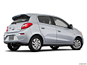 2018 Mitsubishi Mirage SE, low/wide rear 5/8.