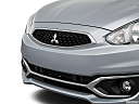 2018 Mitsubishi Mirage SE, close up of grill.
