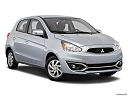 2018 Mitsubishi Mirage SE, front passenger 3/4 w/ wheels turned.