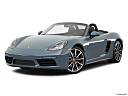 2018 Porsche 718 Boxster, front angle medium view.