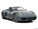 2018 Porsche 718 Boxster, front passenger 3/4 w/ wheels turned.