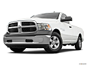 2018 RAM 1500 Tradesman, front angle view, low wide perspective.