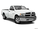 2018 RAM 1500 Tradesman, front passenger 3/4 w/ wheels turned.