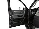 2018 RAM 1500 Big Horn, inside of driver's side open door, window open.