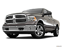 2018 RAM 1500 Big Horn, front angle view, low wide perspective.