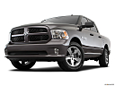 2018 RAM 1500 Express, front angle view, low wide perspective.