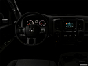 "2018 RAM 1500 Express, centered wide dash shot - ""night"" shot."