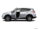 2018 Toyota RAV4 LE, driver's side profile with drivers side door open.
