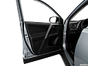 2018 Toyota RAV4 LE, inside of driver's side open door, window open.
