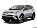 2018 Toyota RAV4 LE, front angle medium view.