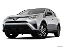 2018 Toyota RAV4 LE, front angle view, low wide perspective.