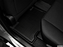 2018 Toyota RAV4 LE, rear driver's side floor mat. mid-seat level from outside looking in.