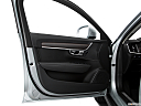 2018 Volvo V90 Cross Country T5, inside of driver's side open door, window open.