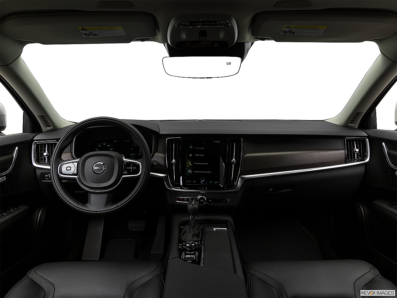 2018 Volvo V90 Cross Country T5, centered wide dash shot
