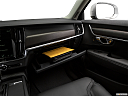 2018 Volvo V90 Cross Country T5, glove box open.