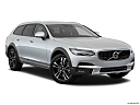 2018 Volvo V90 Cross Country T5, front passenger 3/4 w/ wheels turned.