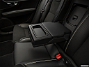 2018 Volvo V90 T6 AWD R-DESIGN, rear center console with closed lid from driver's side looking down.