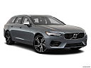 2018 Volvo V90 T6 AWD R-DESIGN, front passenger 3/4 w/ wheels turned.