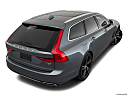 2018 Volvo V90 T6 AWD R-DESIGN, rear 3/4 angle view.