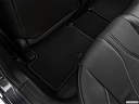 2019 Acura ILX, rear driver's side floor mat. mid-seat level from outside looking in.