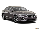 2019 Acura ILX, front passenger 3/4 w/ wheels turned.