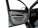 2019 Acura MDX, inside of driver's side open door, window open.
