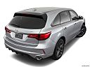 2019 Acura MDX, rear 3/4 angle view.