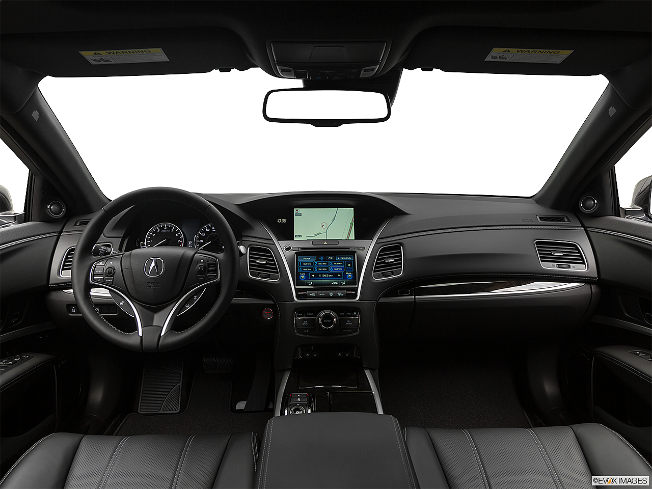 2019 Acura RLX Sport Hybrid SH-AWD, centered wide dash shot