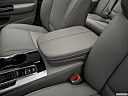 2019 Acura TLX 2.4 8-DCT P-AWS, front center console with closed lid, from driver's side looking down
