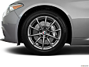 2019 Alfa Romeo Giulia, front drivers side wheel at profile.
