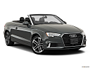 2019 Audi A3 Cabriolet Premium 2.0 TFSI, front passenger 3/4 w/ wheels turned.