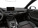 2019 Audi RS 5 2.9 TFSI, center console/passenger side.