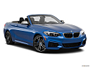 2019 BMW 2-series M240i, front passenger 3/4 w/ wheels turned.