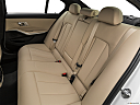 2019 BMW 3-series 330i, rear seats from drivers side.