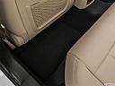 2019 BMW 3-series 330i, rear driver's side floor mat. mid-seat level from outside looking in.
