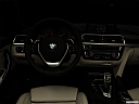 "2019 BMW 4-series 430i Convertible, centered wide dash shot - ""night"" shot."