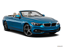 2019 BMW 4-series 430i Convertible, front passenger 3/4 w/ wheels turned.