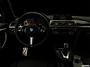 "2019 BMW 4-series 430i Gran Coupe, centered wide dash shot - ""night"" shot."