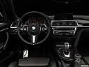 "2019 BMW 4-series 440i Convertible, centered wide dash shot - ""night"" shot."