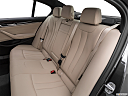 2019 BMW 5-series 530i, rear seats from drivers side.
