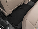 2019 BMW 5-series 530i, rear driver's side floor mat. mid-seat level from outside looking in.
