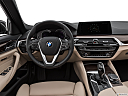 2019 BMW 5-series 530i, steering wheel/center console.