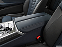 2019 BMW 8-series M850i xDrive, front center console with closed lid, from driver's side looking down
