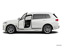 2019 BMW X7 xDrive40i, driver's side profile with drivers side door open.